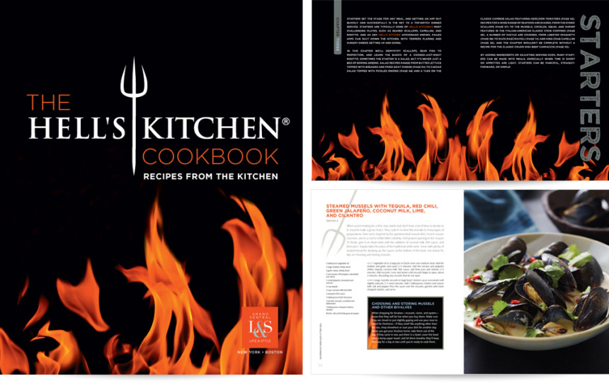 Hell\'s Kitchen Cookbook | Vertigo Design
