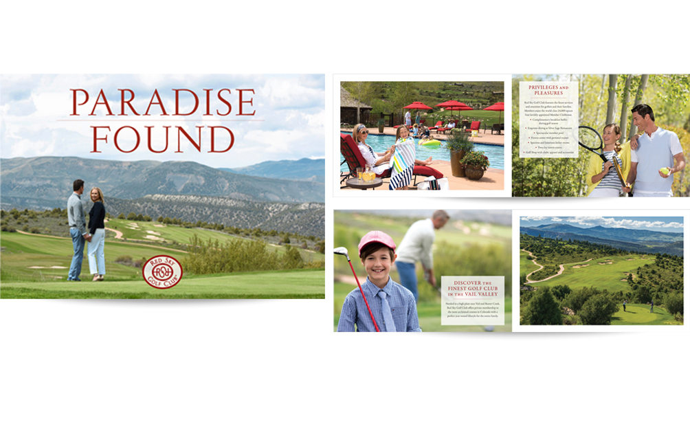 Red Sky Golf Club Brochure and Art Direction